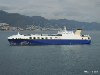 EUROCARGO BRINDISI Approaching Genoa PDM 05-04-2014 15-12-40