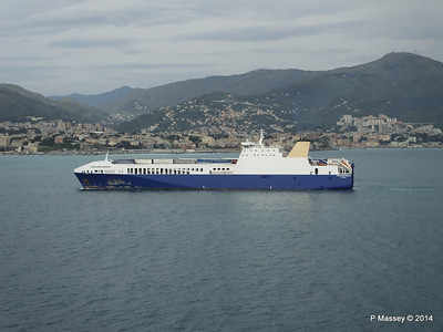 EUROCARGO BRINDISI Approaching Genoa PDM 05-04-2014 15-13-07