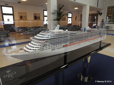 MSC PREZIOSA Model & Stazione Maritima Genoa 5 Apr 2014