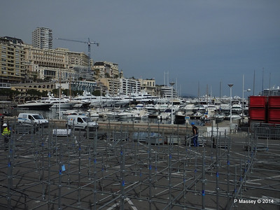 Grand Prix stand preparations obscure Port Hercule Monaco 07-04-2014 13-43-43