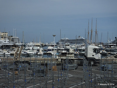 Grand Prix stand preparations obscure Port Hercule Monaco 07-04-2014 13-44-26