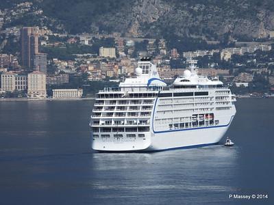 Regent SEVEN SEAS MARINER Approaching Monte Carlo 07-04-2014 09-20-57