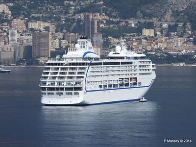 Regent SEVEN SEAS MARINER Approaching Monte Carlo 07-04-2014 09-21-22