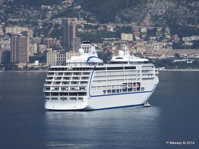 Regent SEVEN SEAS MARINER Approaching Monte Carlo 07-04-2014 09-21-15