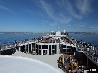 Barcelona & Approaches from Decks MSC SINFONIA 6 Apr 2014