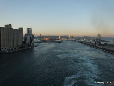 Departing Barcelona on board MSC SINFONIA PDM 06-04-2014 18-11-24