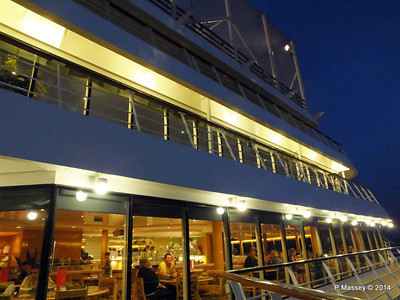 MSC SINFONIA La Terrazza Buffet & decks above at night 07-04-2014 18-38-14