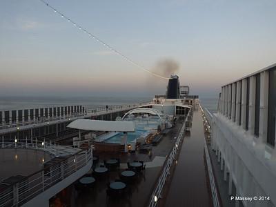 Upper Decks Early Morning MSC SINFONIA Apr 2014