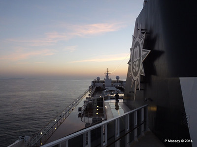 Looking fwd over MSC SINFONIA from Deck 13 aft PDM 07-04-2014 05-01-03