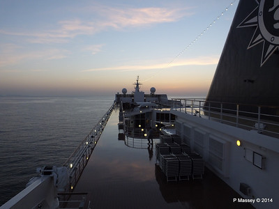 Looking fwd over MSC SINFONIA from Deck 13 aft PDM 07-04-2014 05-03-26