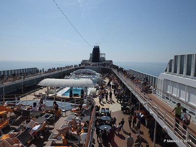 Looking aft from Sun Deck fwd Deck 13 MSC SINFONIA PDM 07-04-2014 09-33-21