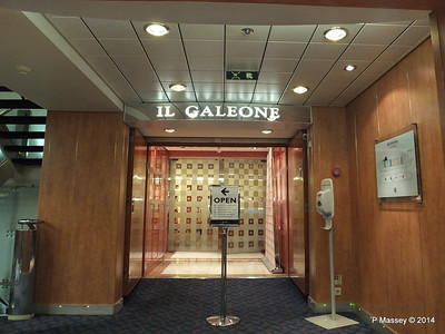 Il Galeone Restaurant Entrance port fwd MSC SINFONIA PDM 07-04-2014 05-34-44