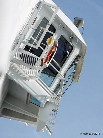MSC SINFONIA Stb Bridge Wing from Tender 07-04-2014 15-06-12