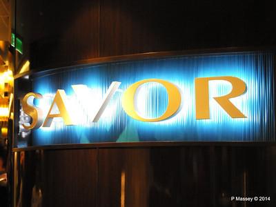 Entrance to Savor Restaurant NORWEGIAN GETAWAY PDM 15-01-2014 07-29-10