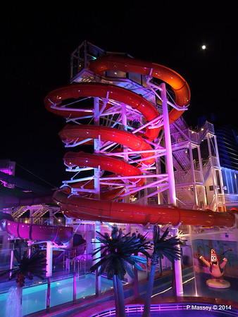 Kid's Aqua Park at Night NORWEGIAN GETAWAY PDM 13-01-2014 18-28-03