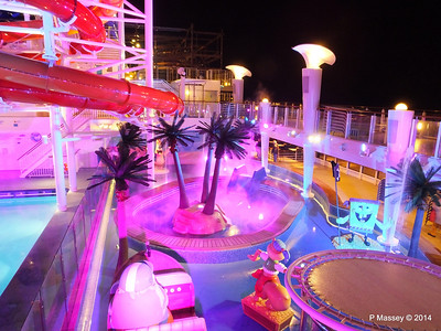 Kid's Aqua Park at Night NORWEGIAN GETAWAY PDM 13-01-2014 18-29-23