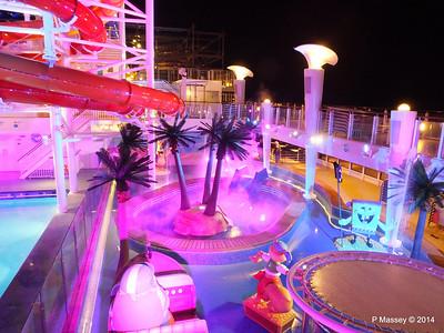 Kid's Aqua Park at Night NORWEGIAN GETAWAY PDM 13-01-2014 18-29-23