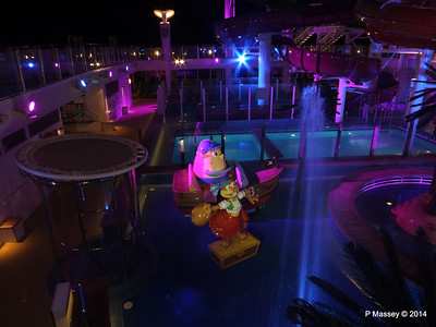 Kid's Aqua Park at Night NORWEGIAN GETAWAY PDM 13-01-2014 18-27-54