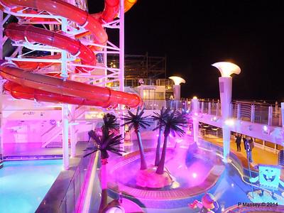 Kid's Aqua Park at Night NORWEGIAN GETAWAY PDM 13-01-2014 18-29-09