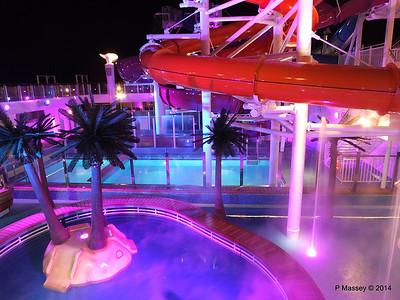 Kid's Aqua Park at Night NORWEGIAN GETAWAY PDM 13-01-2014 18-26-35