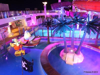 Kid's Aqua Park at Night NORWEGIAN GETAWAY PDM 13-01-2014 18-27-22