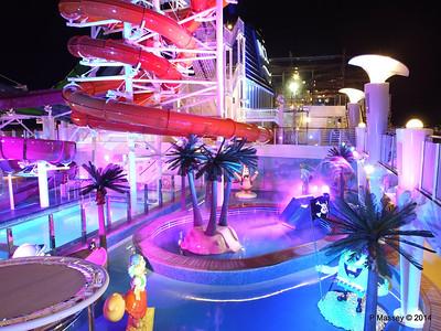 Kid's Aqua Park at Night NORWEGIAN GETAWAY PDM 13-01-2014 18-28-40