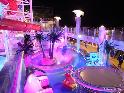 Kid's Aqua Park at Night NORWEGIAN GETAWAY PDM 13-01-2014 18-29-21