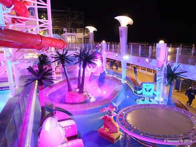 Kid's Aqua Park at Night NORWEGIAN GETAWAY PDM 13-01-2014 18-29-21