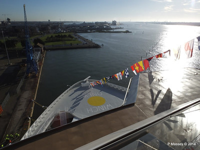 View over Bow from suite 16102 Southampton NORWEGIAN GETAWAY PDM 14-01-2014 11-13-57