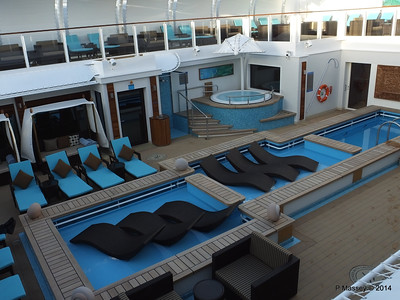 The Haven Sun Deck and Courtyard NORWEGIAN GETAWAY Jan 2014