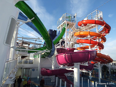 Whip & Freefall Waterslides Decks 15 - 17 NORWEGIAN GETAWAY Jan 2014