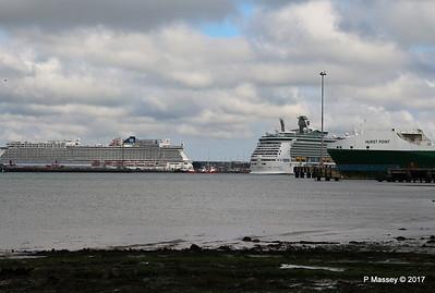 NAVIGATOR OF THE SEAS Departing NORWEGIAN GETAWAY Southampton PDM 12-05-2017 17-12-22