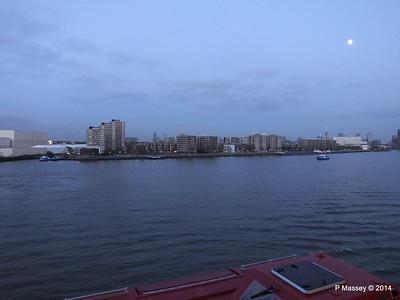 Rotterdam from NORWEGIAN GETAWAY as we depart PDM 13-01-2014 16-17-20