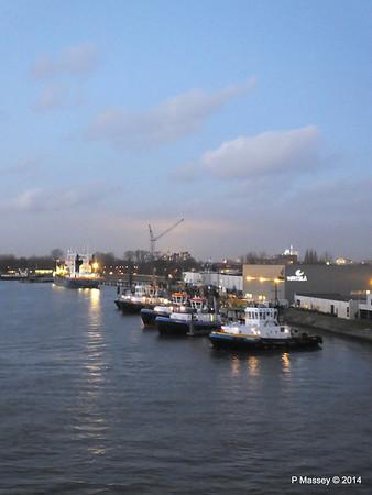 Rotterdam from NORWEGIAN GETAWAY as we depart PDM 13-01-2014 16-31-57