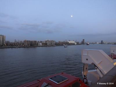 Rotterdam from NORWEGIAN GETAWAY as we depart PDM 13-01-2014 16-17-23