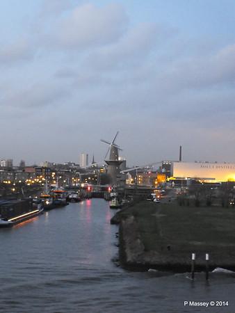 Rotterdam from NORWEGIAN GETAWAY as we depart PDM 13-01-2014 16-27-06