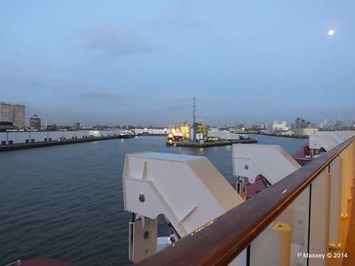 Rotterdam from NORWEGIAN GETAWAY as we depart PDM 13-01-2014 16-21-14