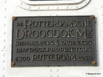 ss ROTTERDAM Builders Plaque Bridge Deck PDM 13-01-2014 10-01-43