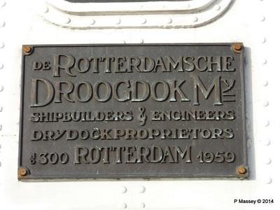 ss ROTTERDAM Builders Plaque Bridge Deck PDM 13-01-2014 10-01-54
