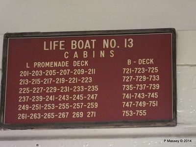 Lifeboat No 13 Muster Cabins ss ROTTERDAM PDM 12-01-2014 21-29-07