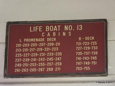 Lifeboat No 13 Muster Cabins ss ROTTERDAM PDM 12-01-2014 21-29-04