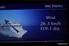 Wind In Cabin TV Approaching Alicante MSC POESIA 26-11-2015 07-46-51