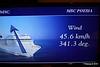 Wind In Cabin TV Approaching Alicante MSC POESIA 26-11-2015 07-46-35