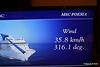 Wind In Cabin TV Approaching Alicante MSC POESIA 26-11-2015 07-46-47