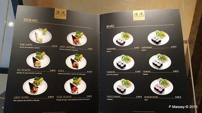 Menu Kaito Sushi Bar Manzoni Deck 7 MSC POESIA 26-11-2015 16-30-23