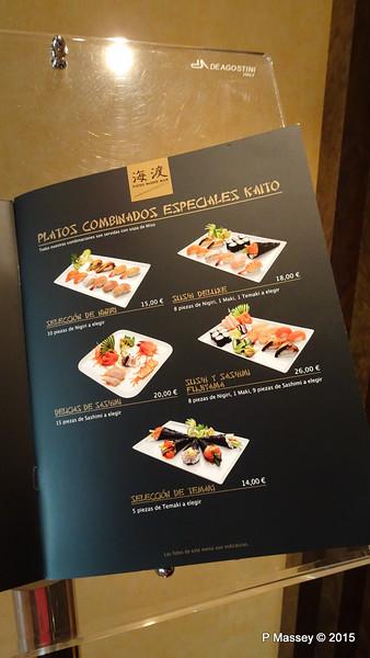 Menu Kaito Sushi Bar Manzoni Deck 7 MSC POESIA 26-11-2015 16-29-54