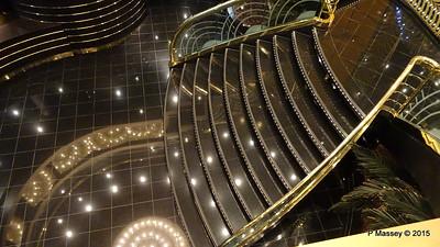 Stairs Casino Royal to Zebra Bar Deck 7 - Deck 6 MSC POESIA 27-11-2015 17-26-19