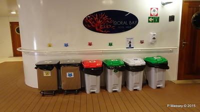Recycling Bins Coral Bay Pool Area Night MSC POESIA PDM 11-12-2015 23-03-09