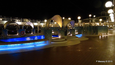 Cayo Levantado Pool Area Night Foscolo Deck 13 MSC POESIA PDM 11-12-2015 23-00-48