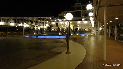 Coral Bay Pool Area Night MSC POESIA PDM 11-12-2015 23-02-01